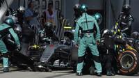 Nico Rosberg v závodě v Malajsii