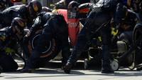 Max Verstappen v závodě v Malajsii