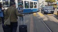 Bentley Continental GT naboural tramvaj