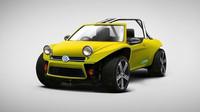 Volkswagen Golf Buggy = Volkswagen Golf R + Volkswagen Beach Buggy. Lehká, silná a zábavná. Přesně taková by mohla být plážová buggyna s technikou Volkswagenu Golf R. Praktičnosti a bezpečnosti sice moc nemá, ale dovádět s ní v dunách musí být zábavnější než řídit leckterý supersport.