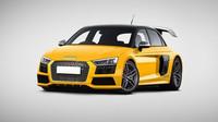 Audi R8S1 = Audi S1 + Audi R8. Nejmenší sportovní model Audi s tím největším vytvářejí hodně zajímavou kombinaci plnou žlutého laku, výkonu a aerodynamiky. Myšlenka supersportovního hatchbacku se nám zamlouvá a ještě víc obrovské zadní křídlo. Tohle bychom si dokázali představit jako dokonalého nástupce skupiny B.