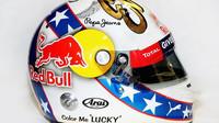 Nový design přilby Daniela Ricciarda v Austinu