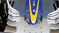 Detail předního křídla vozu Sauber C35 - Ferrari v Austinu