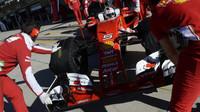 Sebastian Vettel v kvalifikaci v Austinu
