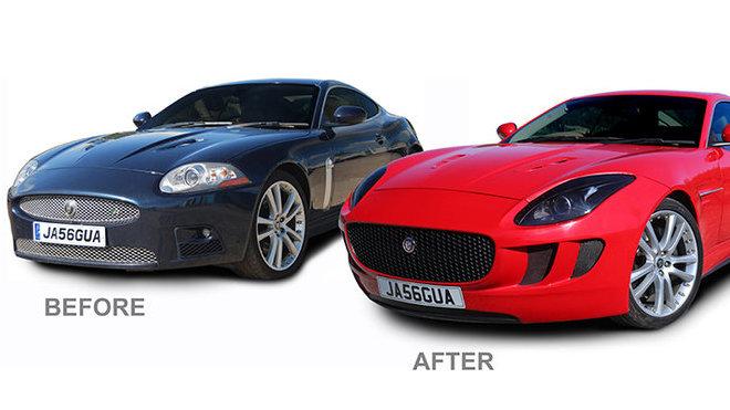 Jaguar XK v přestavbě na F-Type