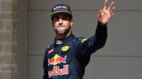 Daniel Ricciardo po kvalifikaci v Austinu