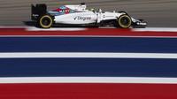 Felipe Massa při pátečním tréninku v Austinu