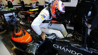 Jenson Button v kvalifikaci v Austinu