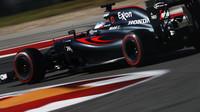 Fernando Alonso v kvalifikaci v Austinu