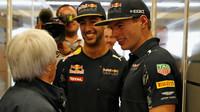 Bernie Ecclestone, Daniel Ricciardo a Max Verstappen v Austinu