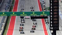 Start závodu v Austinu