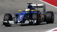 Marcus Ericsson v kvalifikaci v Austinu