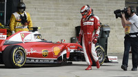 Kimi Räikkönen ukončil předčasně závod v Austinu