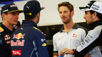 Max Verstappen, Daniel Ricciardo, Romain Grosjean a Sergio Pérez v Austinu