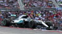 Nico Rosberg v závodě v Austinu