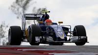 Felipe Nasr v závodě v Austinu