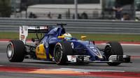 Marcus Ericsson v závodě v Austinu