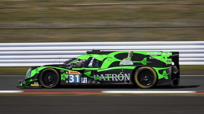 "Ligier JS-P2 týmu ESM (Ryan Dalziel, Christopher Cumming, Luis Felipe ""Pipo"" Derani)"