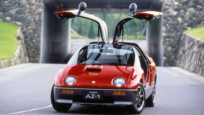 Autozam AZ-1 je jedním z automobilových symbolů Japonska, dostal i Wankelův motor - anotačné foto
