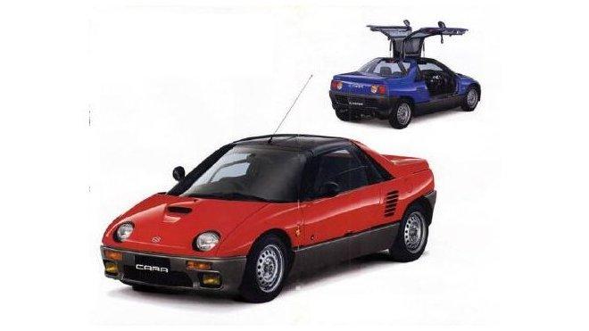 Suzuki Cara se od Autozamu AZ-1 odlišuje jen použitím mlhovek.