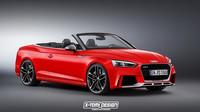 Nová Audi RS5 Cabriolet ukázala svou tvář. Její prodeje se spustí.. - anotační obrázek