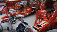 Práce na monopostech Ferrari