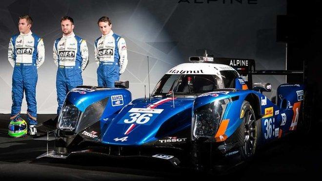 Pretentace týmu Signatech Alpine A460 s posádkou Nicolas Lapierre, Gustavo Menezes, Stéphane Richelmi