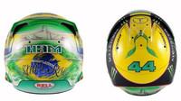 Nový design přilby Lewise Hamiltona pro Velkou cenu Brazílie 2016