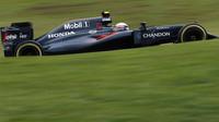 Jenson Button v kvalifikaci v Brazílii