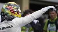 Lewis Hamilton po vyhrané kvalifikaci v Brazílii