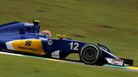 Felipe Nasr v kvalifikaci v Brazílii