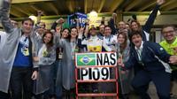 Radost týmu Sauber a bodový zisk Felipeho Nasra v závodě v Brazílii