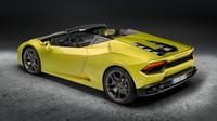 Lamborghini Huracán LP 580-2 Spyder má stejně jako kupé pohon zadních kol.