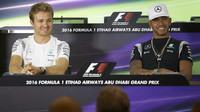 Nico Rosberg (vlevo) s Lewisem Hamiltonem před rokem v Abú Zabí