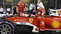 Sebastian Vettel po kvalifikaci v Abú Zabí