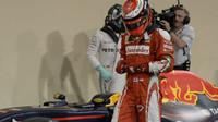 Kimi Räikkönen po kvalifikaci v Abú Zabí