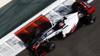 Romain Grosjean v kvalifikaci v Abú Zabí