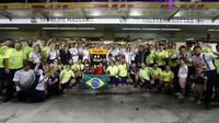 Loučení se týmu Williams s Felipem Massou po závodě v Abú Zabí