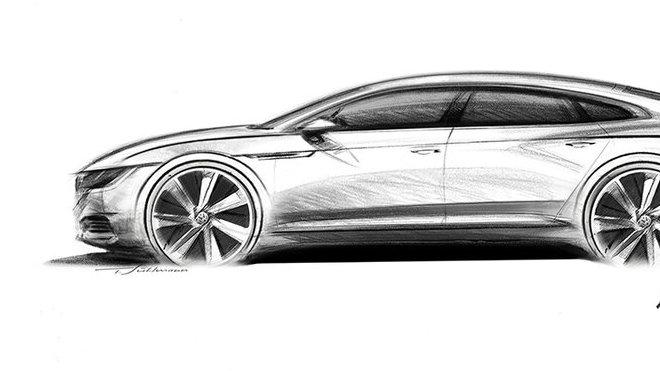 Žhavá novinka Volkswagen Arteon na prvním obrázku. Známe i dvě základní charakteristiky - anotačné foto
