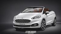 Nový Ford Fiesta jako kabriolet nevypadá vůbec zle. Šance na výrobu tady jsou - anotačno foto