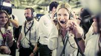 Vivian Rosbergová se raduje z úspěchu svého muže