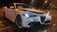Na světě je první nehoda nové Alfy Romeo Giulia. Obětí je vrcholná verze - anotační foto