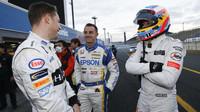 Stoffel Vandoorne, Bertrand Baguette a Fernando Alonso