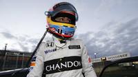 Fernando Alonso se svou klasickou přilbou, Honda Thanks Day 2016