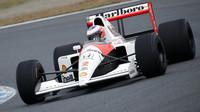 Jenson Buttons McLarenem MP4/6 poháněným Hondou