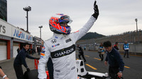 Jenson Button zdraví japonské podporovatele, Honda Thanks Day 2016