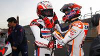 Fernando Alonso se svým krajanem Marcem Márquezem, Honda Thanks Day 2016