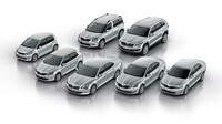 Aktuální prodejně úspěšná modelová paleta vozů Škoda.