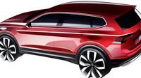 První náčrtky Volkswagenu Tiguan Allspace.