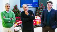 Současní lídři Ferrari: Maurizio Arrivabene, Sergio Marchionne a Mattia Binotto